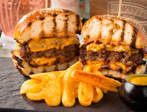 Hamburguesas de Angus Negro rellenas de queso